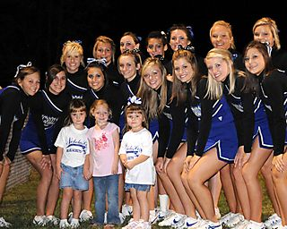 Girls with cheerleaders small